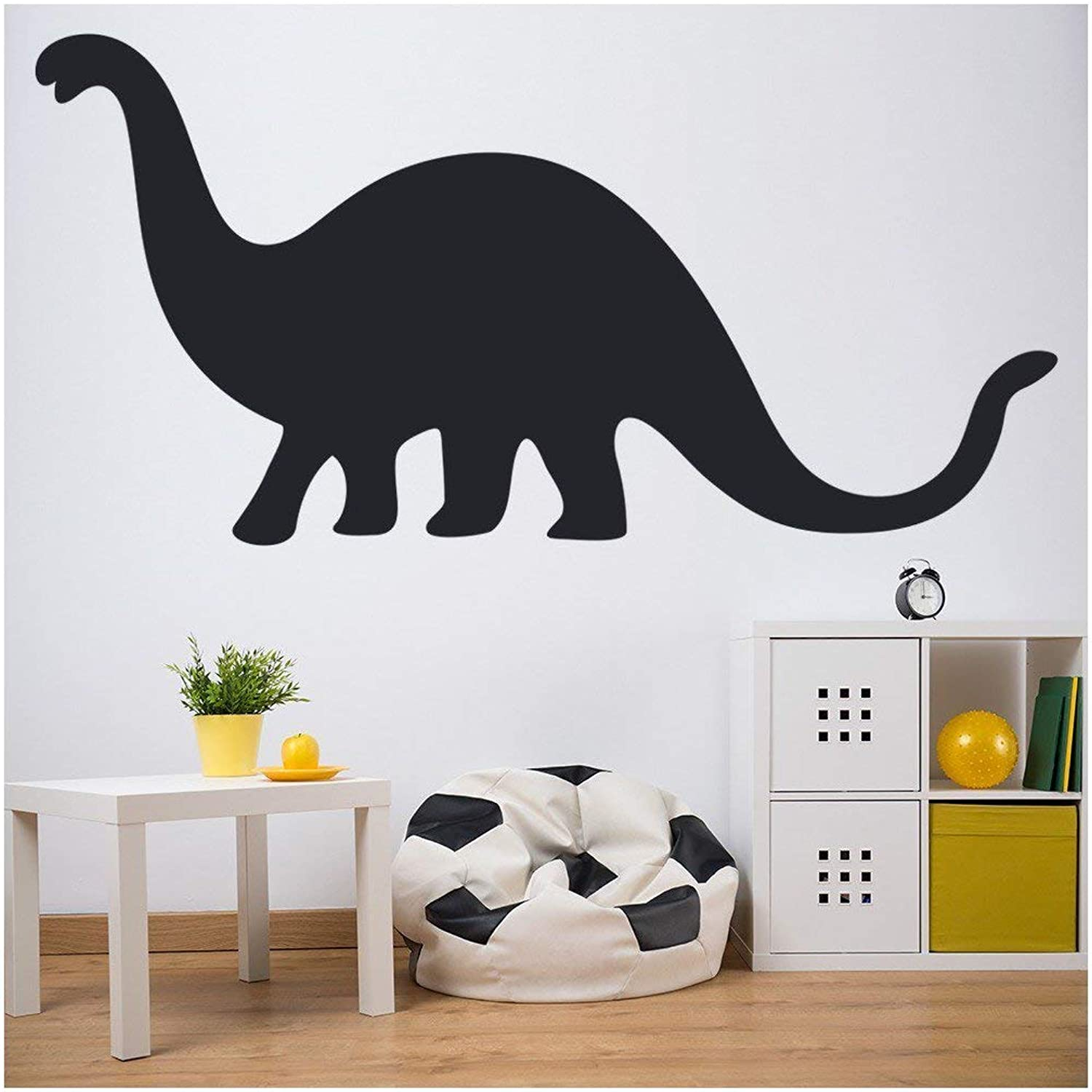 Brontosaurus Dinosaur Wall Sticker Prehistoric Wall Decal Kids Bedroom Decor available in 5 Sizes and 25 Colours Medium Moss Green