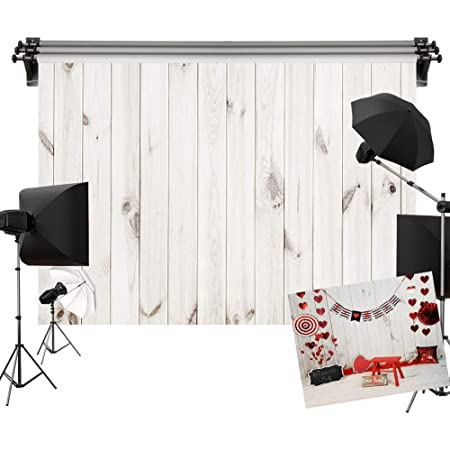 Kate 2.2x1.5m 木目調 背景布 白い木の板 背景紙 木目 写真の背景 写真スタジオ 写真撮影用 背景 布 板壁の背景 カスタマイズ可能な背景