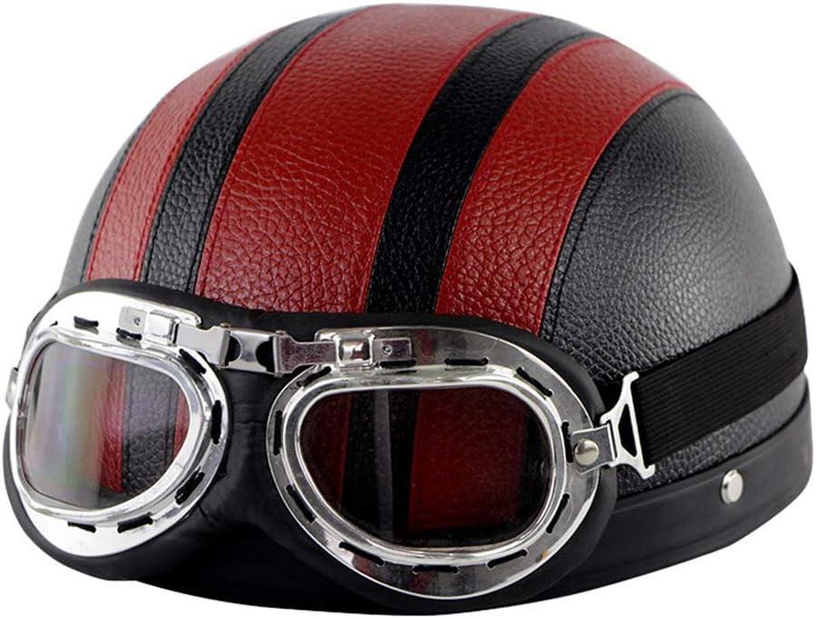 Retro Our shop OFFers the best service half Helmet Motorcycle Half German Chopper Pilot