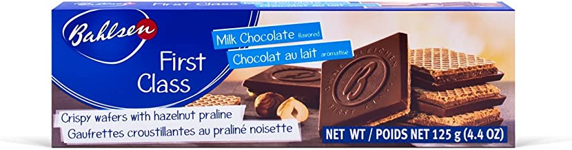Bahlsen First Class Milk Cookies (12 boxes) - Hazelnut wafers covered in milky European chocolate - 4.4 oz boxes