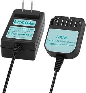Lotive 10.8V-12V Li-ion Battery Charger Fit for Hitachi BCL1015 329369 329370 329371 329389 331065(NOT for Ni-MH/Ni-Cd Battery)