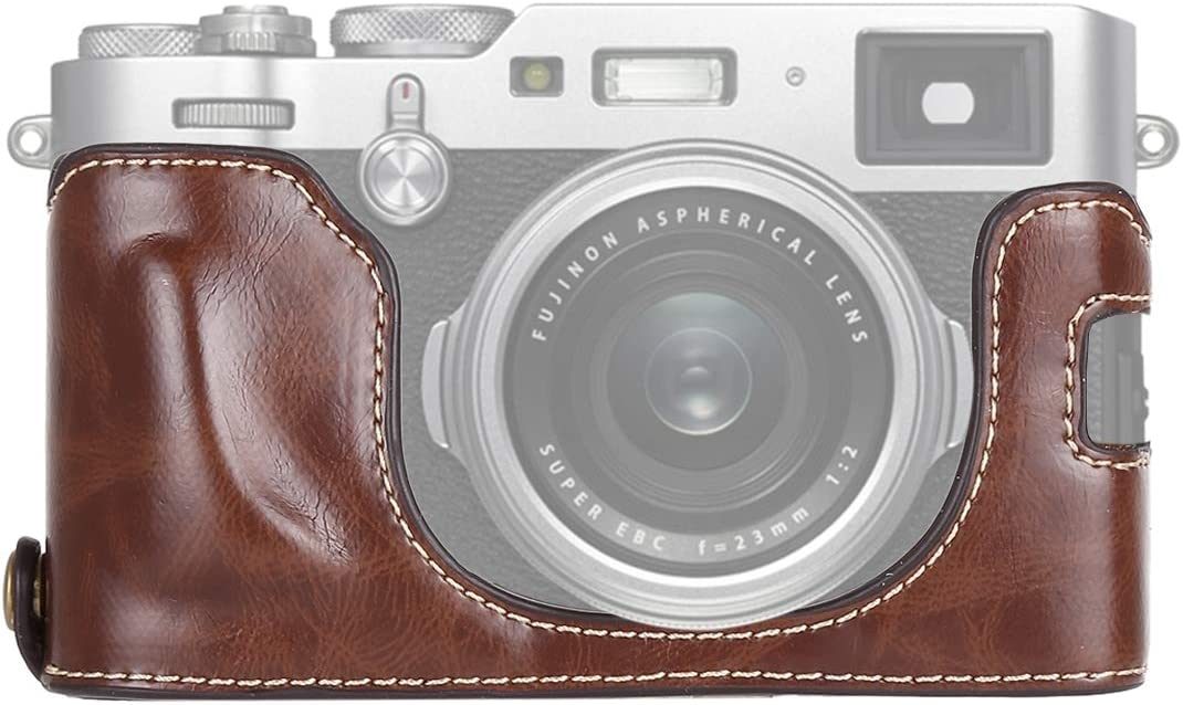 1 4 inch Thread Factory outlet PU Max 67% OFF Leather Camera Base for X1 FUJIFILM Half Case