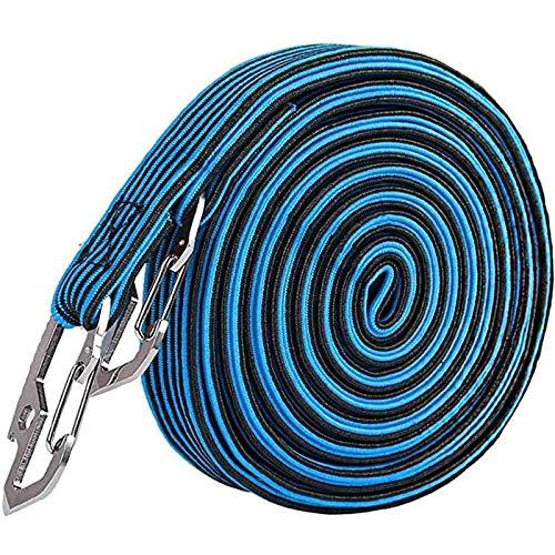 XINTUON Cuerda elástica elástica cuerda de equipaje cuerdas largas con acero al carbono negro