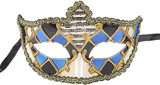 Venetian Party Mask Half Face Unisex Masquerade Elf Mask Phantom of The Opera Vintage Design Carnival Mask for Villain Costume Ball Halloween Zhhlaixing