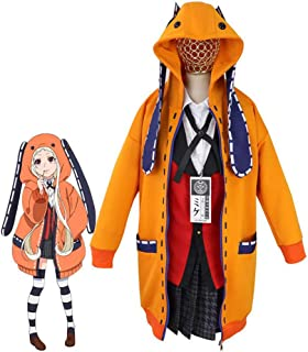Halloween Costumes Yomozuki Runa Cosplay Anime Kakegurui School Uniform Hoodie Dress