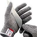 NoCry Cut Resistant Gloves - Ambidextrous, Food Grade, Level 5 Protection