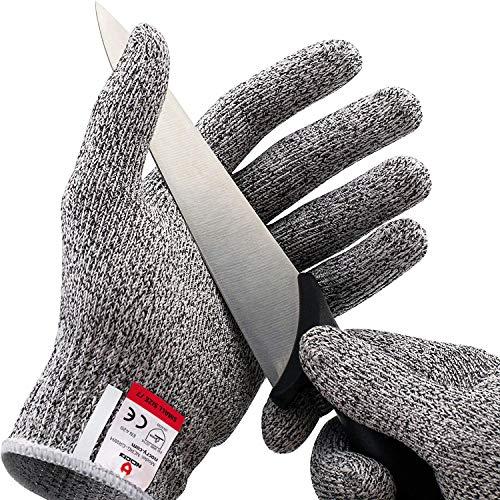 NoCry Schnittsichere Handschuhe – Leistungsfähiger Level 5 Schutz, lebensmittelecht. Größe : Medium, 1 Paar