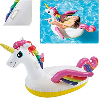 Intex 57561 - Cavalcabile Unicorno, Multicolore, 198 x 140 x