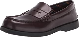Sperry Colton PlushWave Oxford, Burgundy, 10 Wide US Unisex Big_Kid