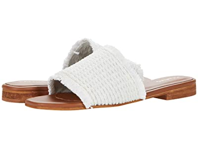 KAANAS Crete Frayed Upper Slip-On (White) Women