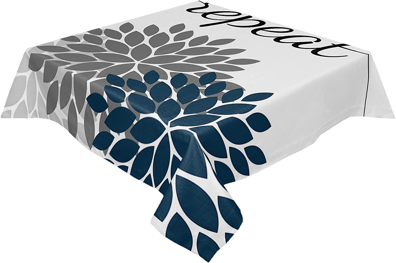 BABE MAPS Floral Table Cloths Outlet sale feature Max 74% OFF Wrinkle Rectangul Free Waterproof