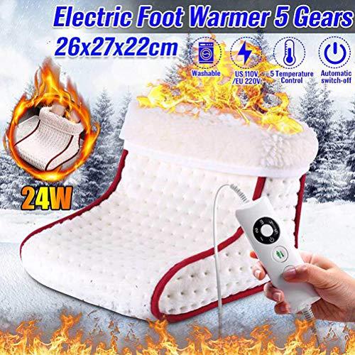 Preisvergleich Produktbild QoFina Fußwärmer -Elektrischer Fußsack mit 5 Temperaturstufen / Wärmeeinstellung per Fernbedienung / Überhitzungsschutz mit Abschaltautomatik / Wärmeschuh geeignet bis Schuhgröße 46