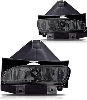 Winjet WJ30-0086-11 OEM Series for [1999-2004 Ford Mustang GT] Smoke Lens Driving Fog Lights