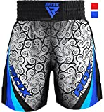 RDX Boxing Fight Shorts Grappling Muay Thai Bottom Trunks Cage Fighting Training Martial Arts MMA Kickboxing Blue