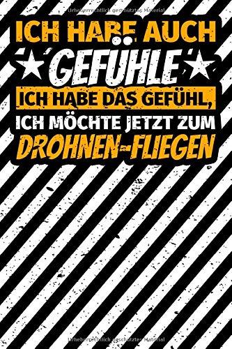 Notizbuch liniert: Drohne Geschenk -...