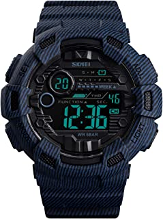 Kismary Boys Camouflage Waterproof Sports Digital Watch Outdoor, Camouflage Military Silicone Luminous Army Time LED Sport Watch for Teenagers