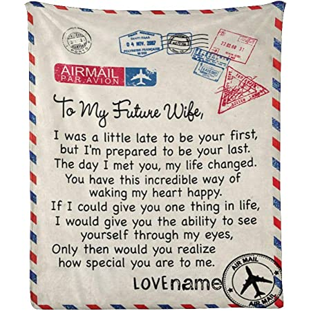 To My Future  Wife I/'m Prepared To Be Your Last I Love You Fleece Blanket