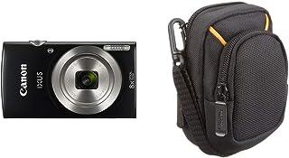 Canon IXUS 185 - Cámara compacta de 20 MP (Pantalla de 2.7 Digic 4+ 16x ZoomPlus vídeo HD Modo Smart Auto Date Button Easy Auto) Negro + AmazonBasics - Funda para cámaras compactas