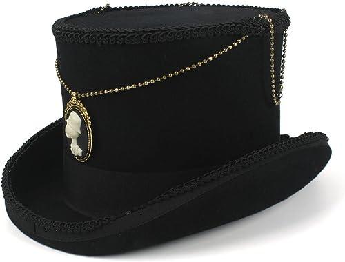 todos los bienes son especiales Easy Go Shopping Fedora Hat Wool mujeres hombres hombres hombres Steampunk Top Hat Top 15CM negro Sombrero  Disfruta de un 50% de descuento.