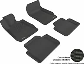 3D MAXpider Complete Set Custom Fit All-Weather Floor Mat for Select BMW 3 Series Sedan (E90) Models - Kagu Rubber (Black)