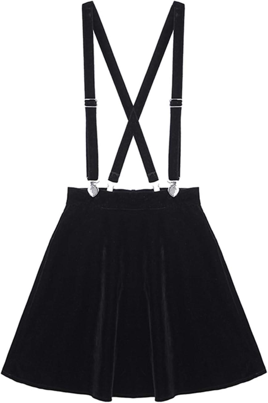 Ranking TOP5 HAODA Women Omaha Mall Outlook Women's Skirt Velvet Love Clip Punk Harajuku