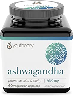 Youtheory Ashwagandha 60 Count (1 Bottle)