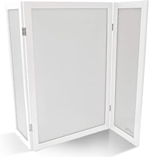 PetFusion ModestCat Litter Box Privacy Screen (3' Tall; 4' Wide). 2-Way Hinges. Cat Litter Box Furniture Best for Your Cat's Health
