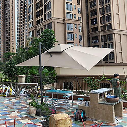 AIMCAE Paraguas de Patio Grande de 13 pies, sombrilla de jardín Rectangular con rotación de 360 °, sombrilla de Mesa para el Mercado, sombrilla Compensada, sombrilla Colgante en voladizo