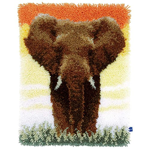 Vervaco Elephant in Savanna Latch Hook Kit