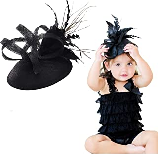 Clothing, Shoes & Accessories Baby Girl Costume Gift Hair Bow Peacock Feather Newborn Shabby Flower Headband