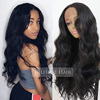 Jolitime Hair Black Color Lace Front Wigs Long Body Wave Hair Glueless Synthetic Lace Front Wigs for Black Women