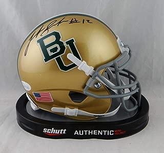 Josh Gordon Autographed Baylor Bears Gold Schutt Mini Helmet- JSA W Auth Black