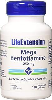 Life Extension Mega Benfotiamine 250 mg, 120 vegetarian capsules (Pack of 2)