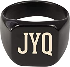 Molandra Products JYQ - Adult Initials Stainless Steel Ring