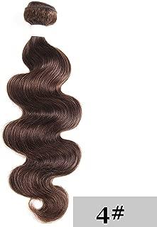Medium Brown 4# Body Wave Human Hair Weave Bundles KEMY HAIR 100% Brazilian Human Hair Extensions 2/3/4pieces Remy Hair Bundles,10 10 10 10,#4