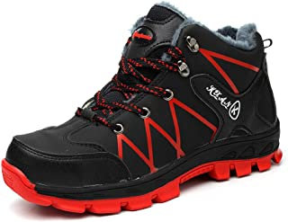 Nasogetch Safety Boots Work Boots for Men Women Steel Toe Cap Safety Shoes Warm Plush Lining for Winter