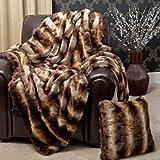 Best Home Fashion Chinchilla Faux Fur Throw Blanket - 58' W x 84' L