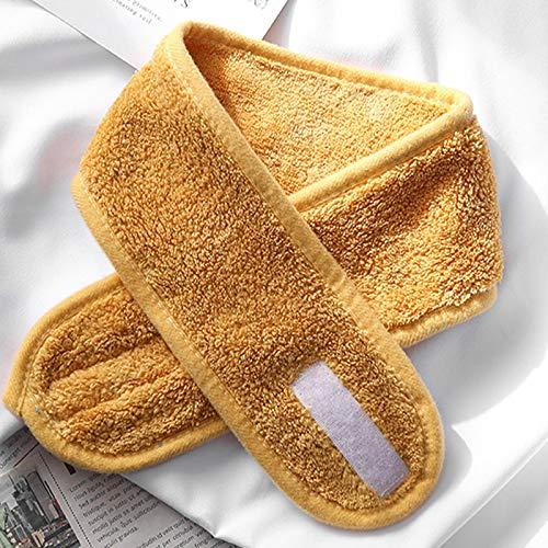 yqs Diadema de toalla accesorios para el cabello para niñas diademas para lavado de la cara, baño de maquillaje, banda de pelo para mujeres ajustable facial 6