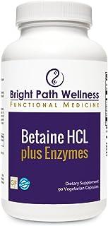 Betaine HCL Plus Enzymes - 90 Caps - L-Glutamic Acid, Pepsin, Gentain, Non GMO, Gluten Free