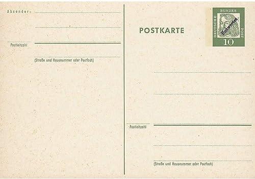 Goldhahn BRD Postkarte Entwertet geprüft und signiert Briefmarken für Sammler