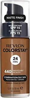 Revlon ColorStay Liquid Foundation Makeup for Combination/Oily Skin SPF 15, Longwear Medium-Full Coverage with Matte Finis...