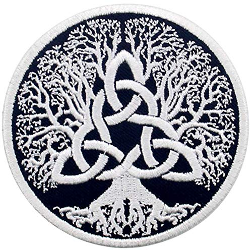 Tree of Life Yggdrasil Patch Embroidered Applique Iron On Sew On Emblem