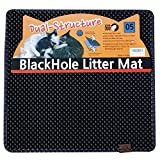 Blackhole Litter Mat - Cat Litter Mat, Medium Square 23' X 21' - Dark Gray