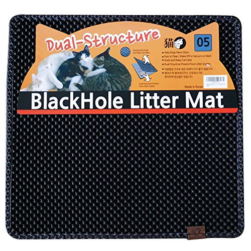 Blackhole Litter Mat - Cat Litter Mat, Medium...