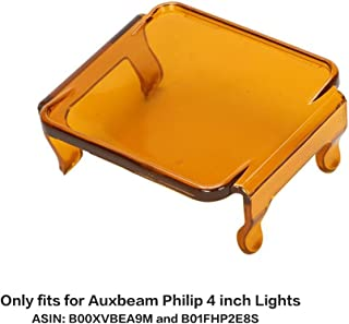Auxbeam Led Light Pods Cover Amber ONLY 3 inch Lights ASIN: B00XVBEA9M and B01FHP2E8S