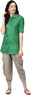 Dream Angel Fashion Women Bollywood Designer Printed Kurta with Dhoti Pants