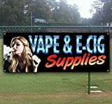 Vape and E Cig Supplies 13 oz Banner | Non-Fabric | Heavy-Duty Vinyl Single-Sided with Metal Grommets