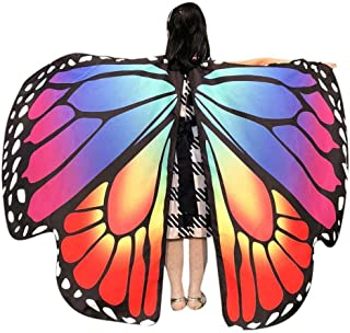 Kid Baby Girl Butterfly Wings Shawl Scarves Nymph Pixie Halloween Party Costume