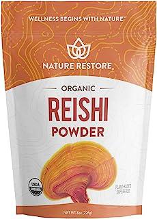 USDA Certified Organic Red Reishi Mushroom Powder, 8 Ounces, Non GMO, Gluten Free, Packaged in California, Ganoderma Lucid...