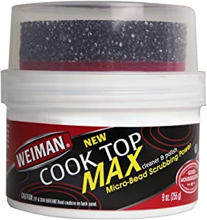 Weiman Cooktop Cleaner Max - 9 Ounce - Easily Remove Burned-On Food, Grease and Watermarks, Leaving Your Glass Cook Top Sp...